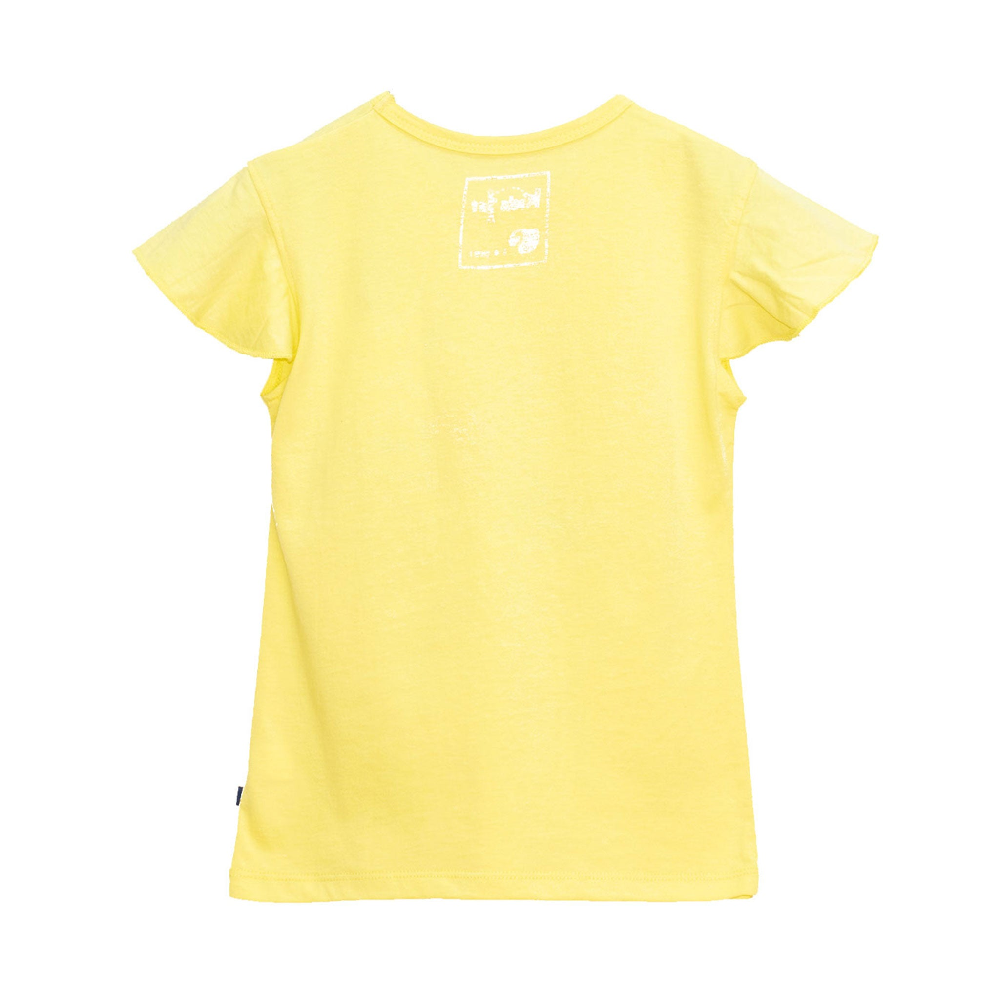 GIRL'S PRINTED TEE - YELLOW GLITTER TOUCANS
