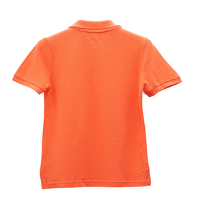 BOYS' S/S SOLID COLOR POLO - ORANGE - Export Mall Online Store Sale