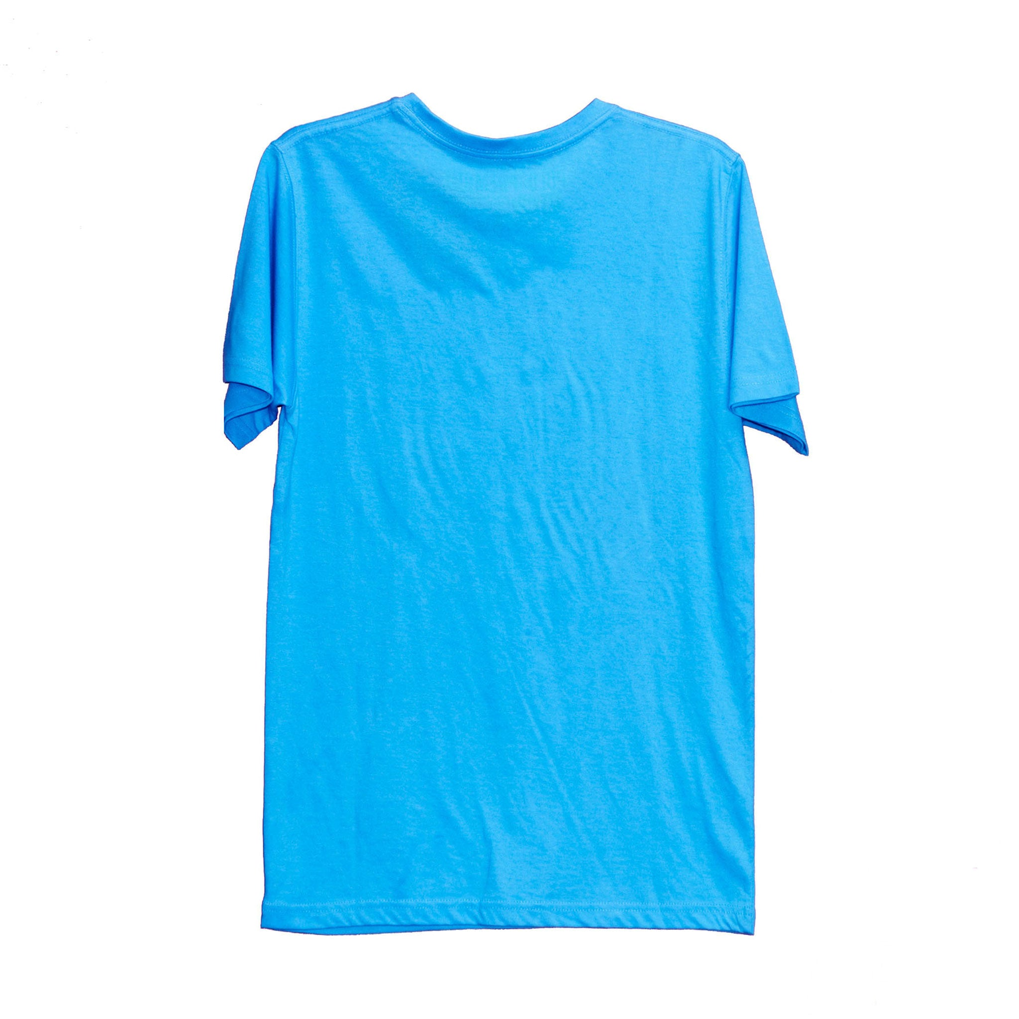 MEN'S S/S PRINTED TEE - AQUA BLUE / POLO ROYALE LOGO