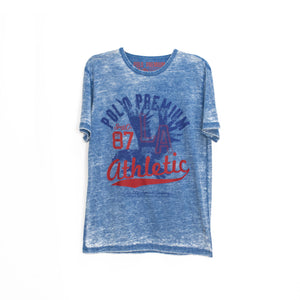 MEN'S S/S PRINTED TEE - DENIM COLOR / 87 ATHLETIC - Export Mall Online Store Sale