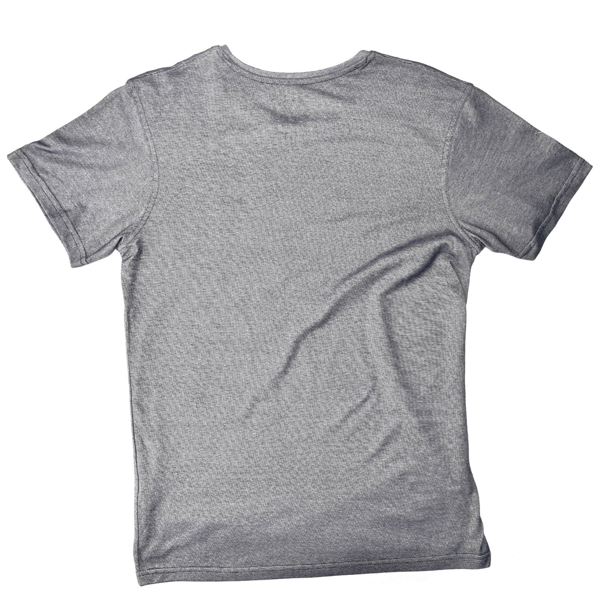 MEN'S S/S PRINTED TEE - CHARCOAL GREY / SURF