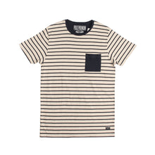 Load image into Gallery viewer, MEN'S S/S TEE-OAT MEAL/NAVY - Export Mall