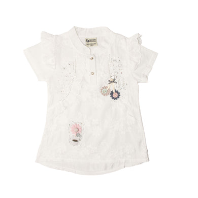 GIRL'S S/S TEE-WHITE-SSSS20KG-2203 - Export Mall Online Store Sale