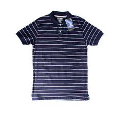 Load image into Gallery viewer, MEN'S S/S NAVY WHITE STRIPE POLO-3728 - Export Mall Online Store Sale