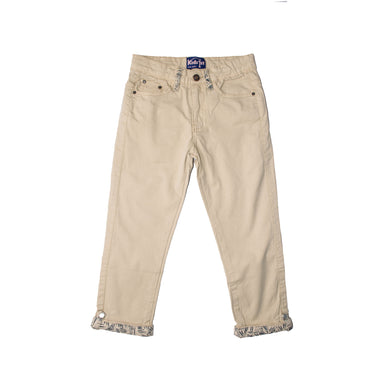 GIRL'S TWILL PANT - CAMEL - Export Mall Online Store Sale