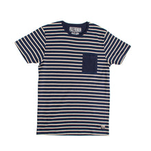 Load image into Gallery viewer, MEN'S S/S TEE-NAVY / OATMEAL-EMSS20KM-1008 - Export Mall Online Store Sale