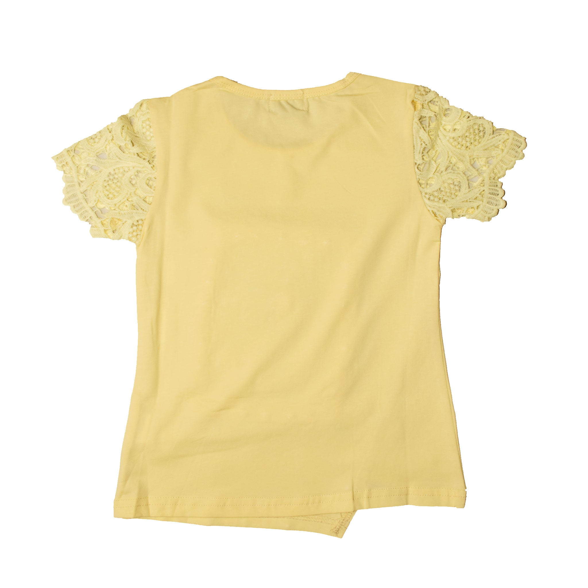 GIRL'S S/S TEE-YELLOW-SSSS20KG-2202 - Export Mall