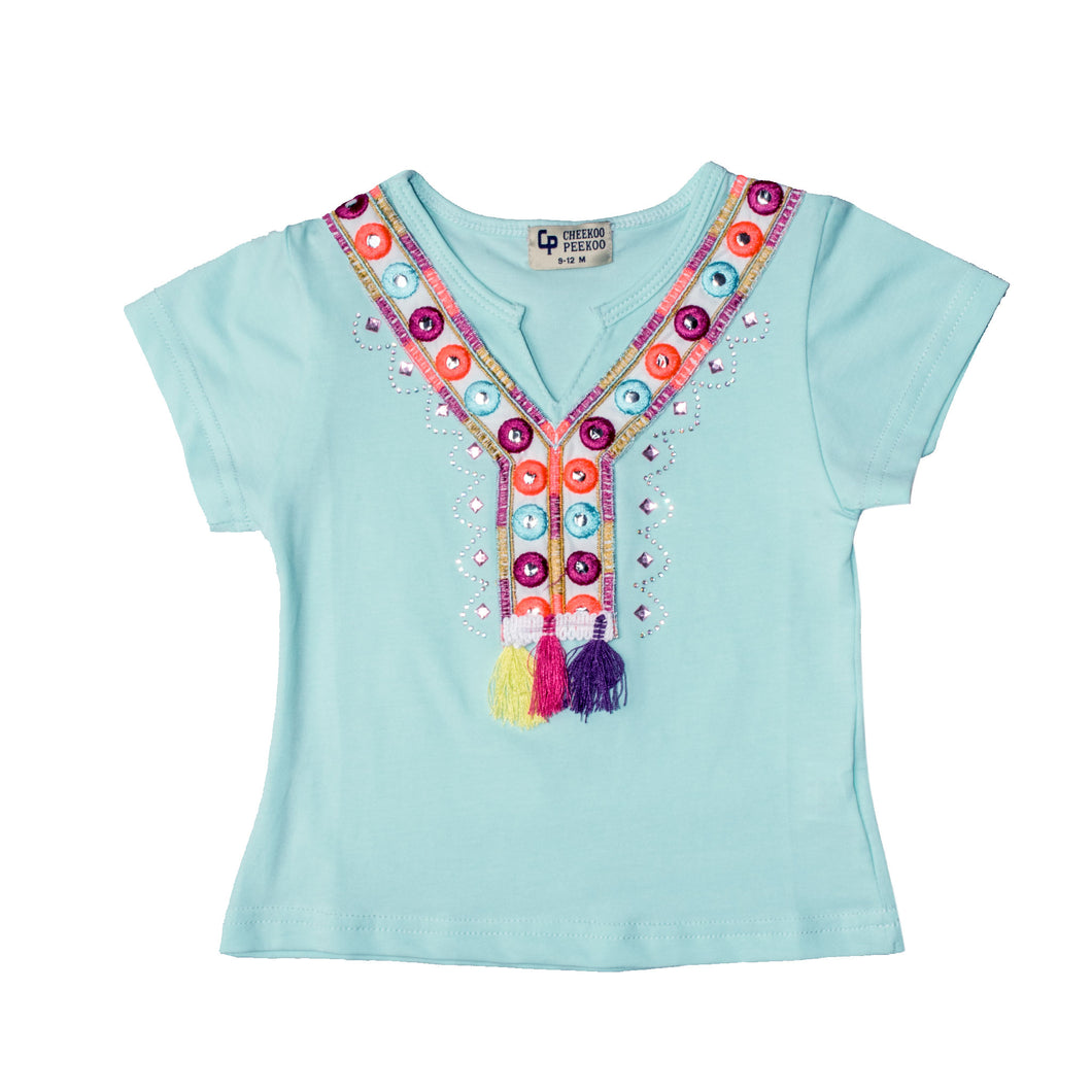 GIRL'S S/S TEE-FEROZI - Export Mall Online Store Sale