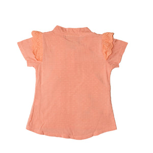 GIRL'S S/S TEE-PEACH-SSSS20KG-2203 - Export Mall Online Store Sale