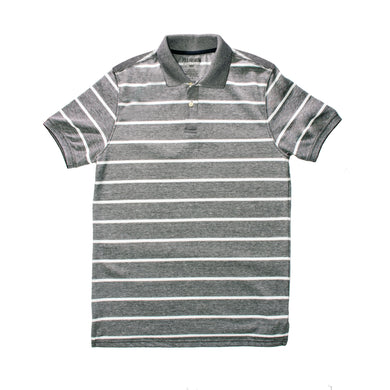 MEN'S S/S GREEN NAVY STRIPE POLO-3684 - Export Mall Online Store Sale