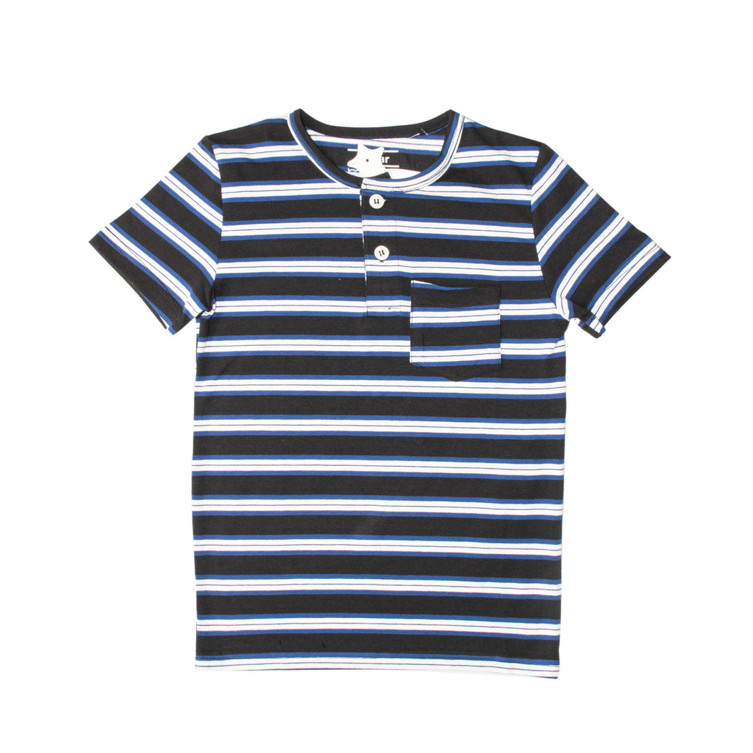 BOY'S S/S HENLEY-BLACK/BLUE/WHITE-SSSS20KB-1108 - Export Mall Online Store Sale