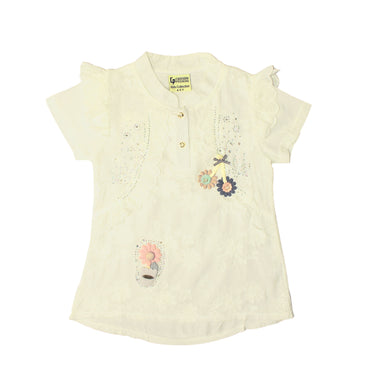 GIRL'S S/S TEE-CREAM-SSSS20KG-2203 - Export Mall Online Store Sale