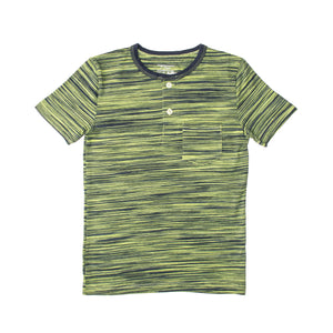 BOY'S S/S HENLEY-GREEN/NAVY-SSSS20KB-1108 - Export Mall Online Store Sale