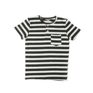 BOY'S S/S HENLEY-BLACK/GREEN/WHITE-SSSS20KB-1108 - Export Mall Online Store Sale