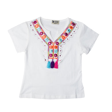 GIRL'S S/S TEE-WHITE-SSSS20KG-2201 - Export Mall Online Store Sale