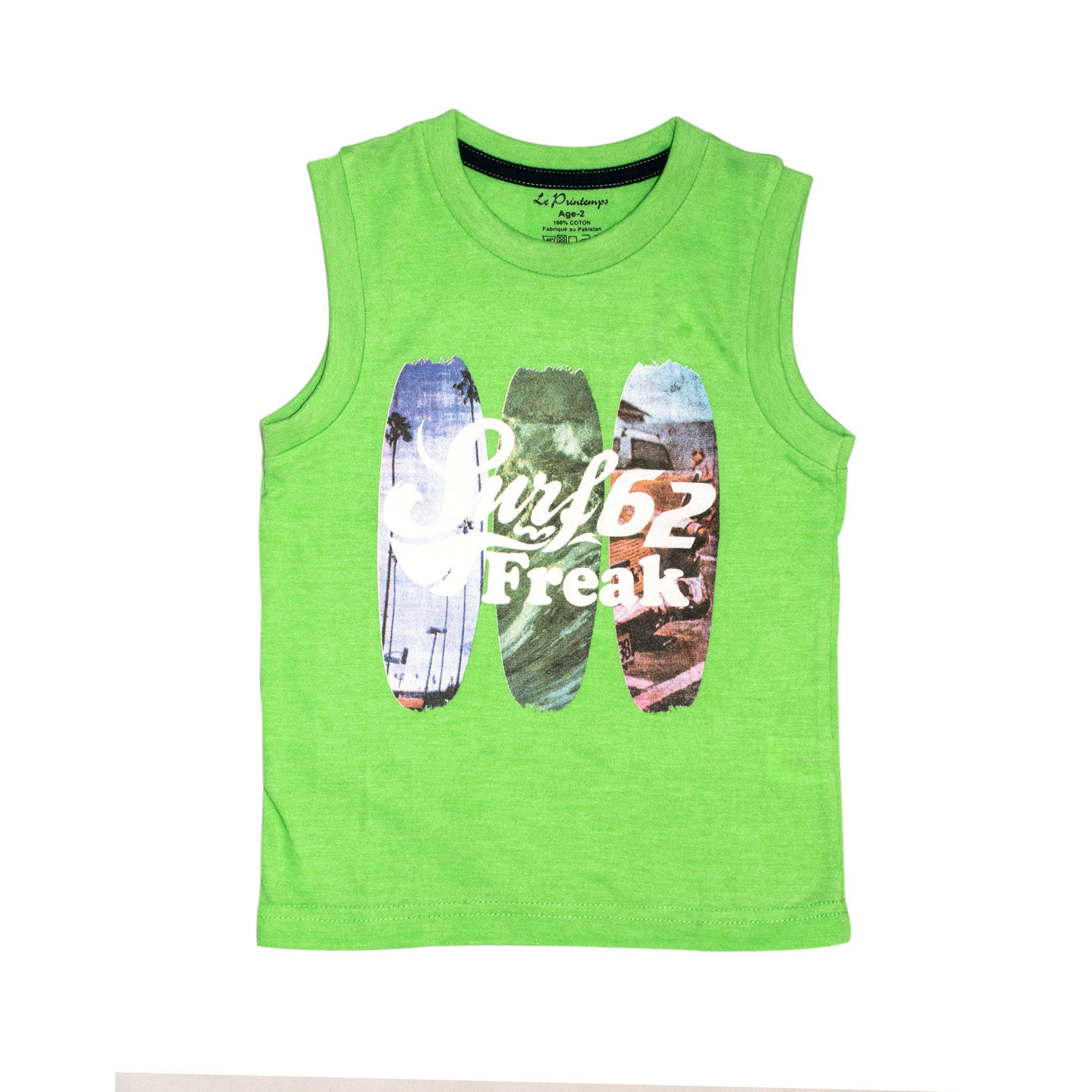 BOYS' MUSCLE TEE & SHORT SET - PARROT / NAVY - Export Mall