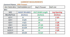 BOY'S TROUSER-GREY HEATHER-EMFW20KB-1117 - Export Mall Online Store Sale
