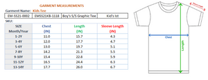 BOY'S S/S GRAPHIC TEE-GREY HEATHER-EMSS21KB-1118 - Export Mall Online Store Sale