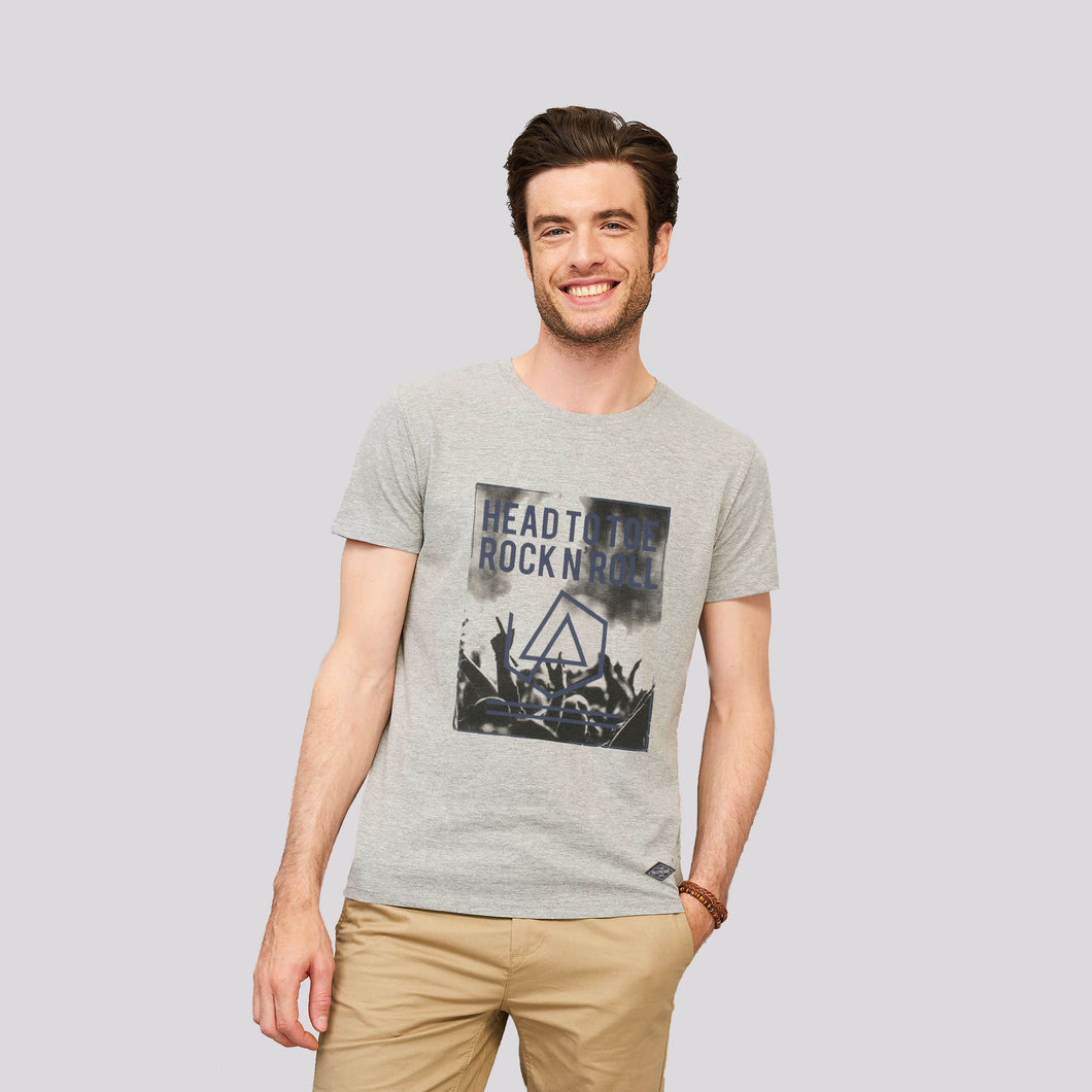MEN'S S/S GRAPHIC TEE-GREY HEATHER-EMSS20KM-1005 - Export Mall Online Store Sale