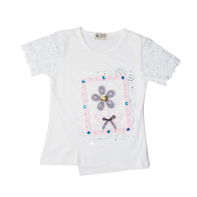 GIRL'S S/S TEE-WHITE-SSSS20KG-2202 - Export Mall Online Store Sale