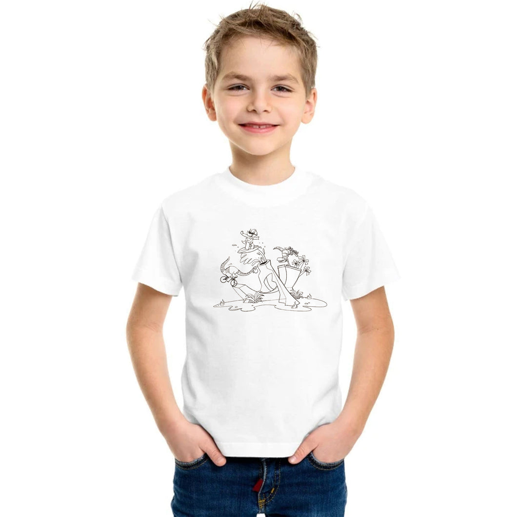 BOY'S S/S GRAPHIC TEE-WHITE-SSSS20KB-1120 - Export Mall Online Store Sale
