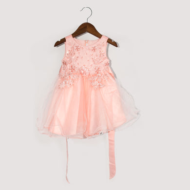 GIRL'S FROCK-PEACH-SSSS20KG-2205 - Export Mall Online Store Sale