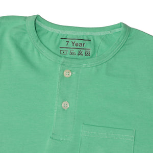 BOY'S S/S HENLEY-LIGHT GREEN-SSSS20KB-1108 - Export Mall Online Store Sale