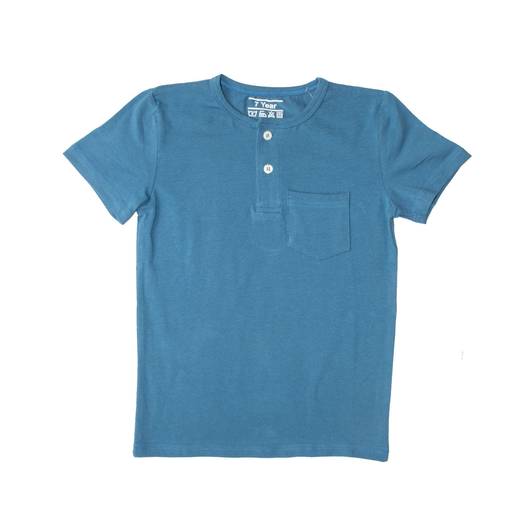 BOY'S S/S HENLEY-PALACE BLUE-SSSS20KB-1108 - Export Mall Online Store Sale