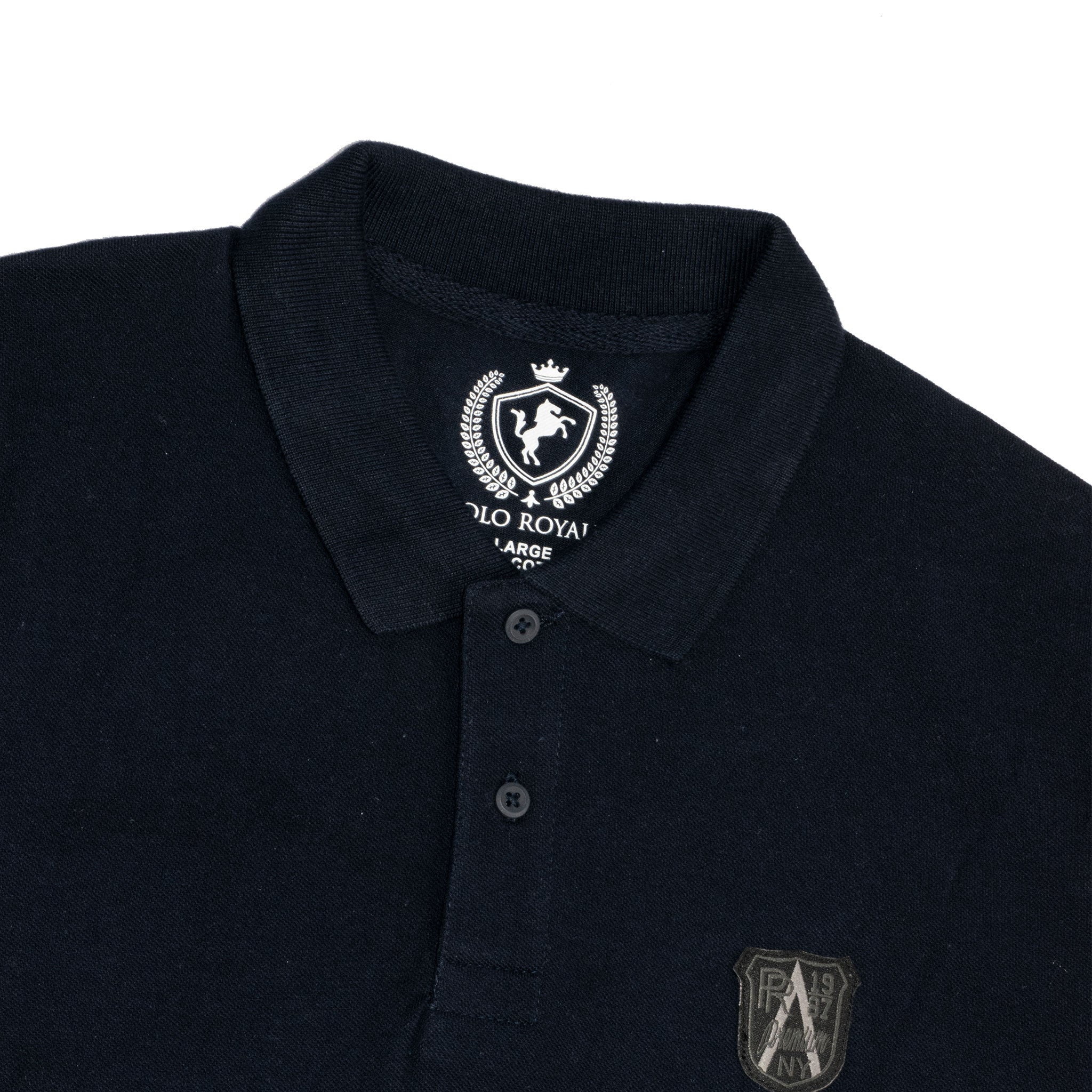 MEN'S S/S POLO-NAVY - Export Mall