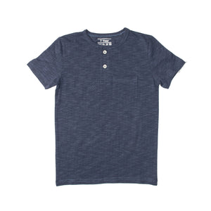BOY'S S/S HENLEY-NAVY WITH DOT-SSSS20KB-1108 - Export Mall Online Store Sale