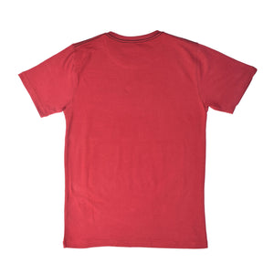 MEN'S S/S PRINTED TEE - BURGUNDY / BERLIN - Export Mall Online Store Sale