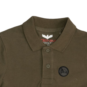 BOY'S S/S POLO - OLIVE - Export Mall Online Store Sale