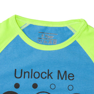 BOYS S/S RAGLAN-BLUE/GREEN-SSSS20KB-1111 - Export Mall Online Store Sale