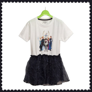 GIRL'S TUNIC-WHITE-BLACK - Export Mall Online Store Sale