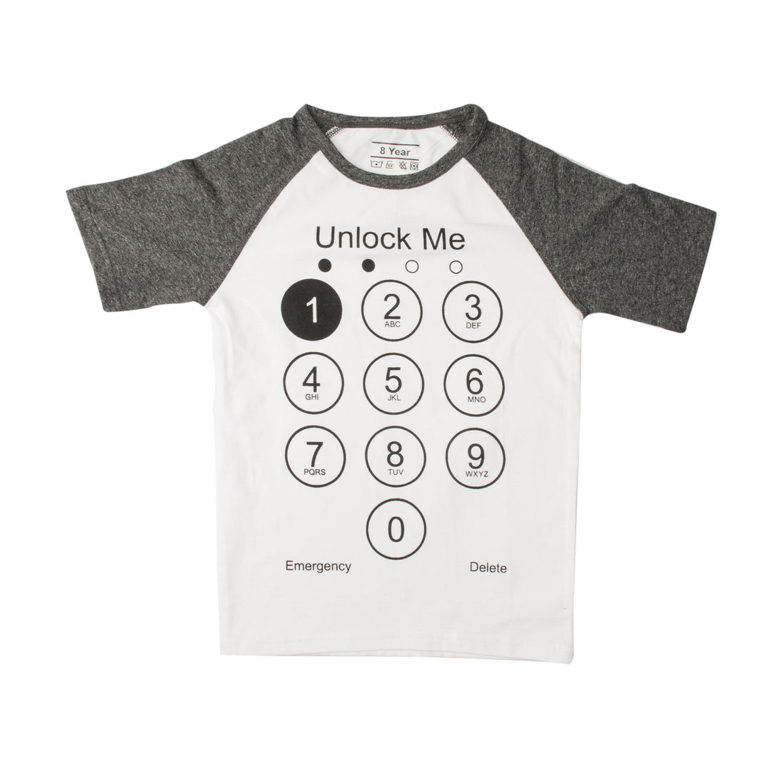 BOYS S/S RAGLAN-WHITE/CHARCOAL-SSSS20KB-1111 - Export Mall Online Store Sale