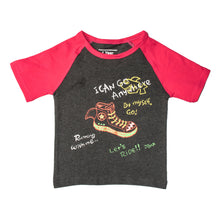 Load image into Gallery viewer, BOYS S/S RAGLAN-CHARCOAL/PINK-SSSS20KB-1109 - Export Mall Online Store Sale