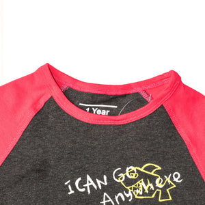 BOYS S/S RAGLAN-CHARCOAL/PINK-SSSS20KB-1109 - Export Mall Online Store Sale