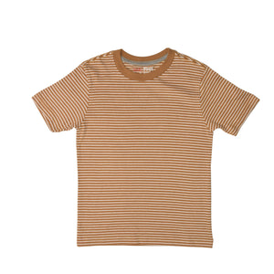 BOY'S S/S TEE-25BS-STK-ASRT01-Golden White Stripe - Export Mall Online Store Sale