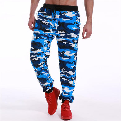 MEN'S FLEECE PANT TROUSER CAMO-Blue25 - Export Mall Online Store Sale