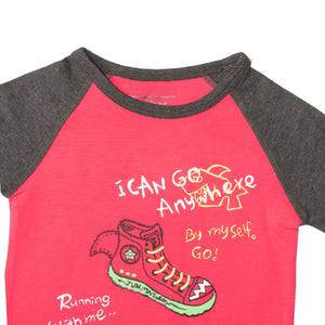 BOYS S/S RAGLAN-PINK/CHARCOAL-SSSS20KB-1109 - Export Mall Online Store Sale