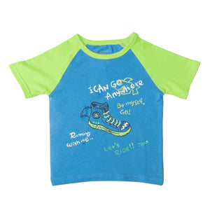 BOYS S/S RAGLAN-BLUE/GREEN-SSSS20KB-1109 - Export Mall Online Store Sale