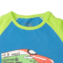Load image into Gallery viewer, BOYS S/S RAGLAN-BLUE/GREEN-SSSS20KB-1110 - Export Mall Online Store Sale