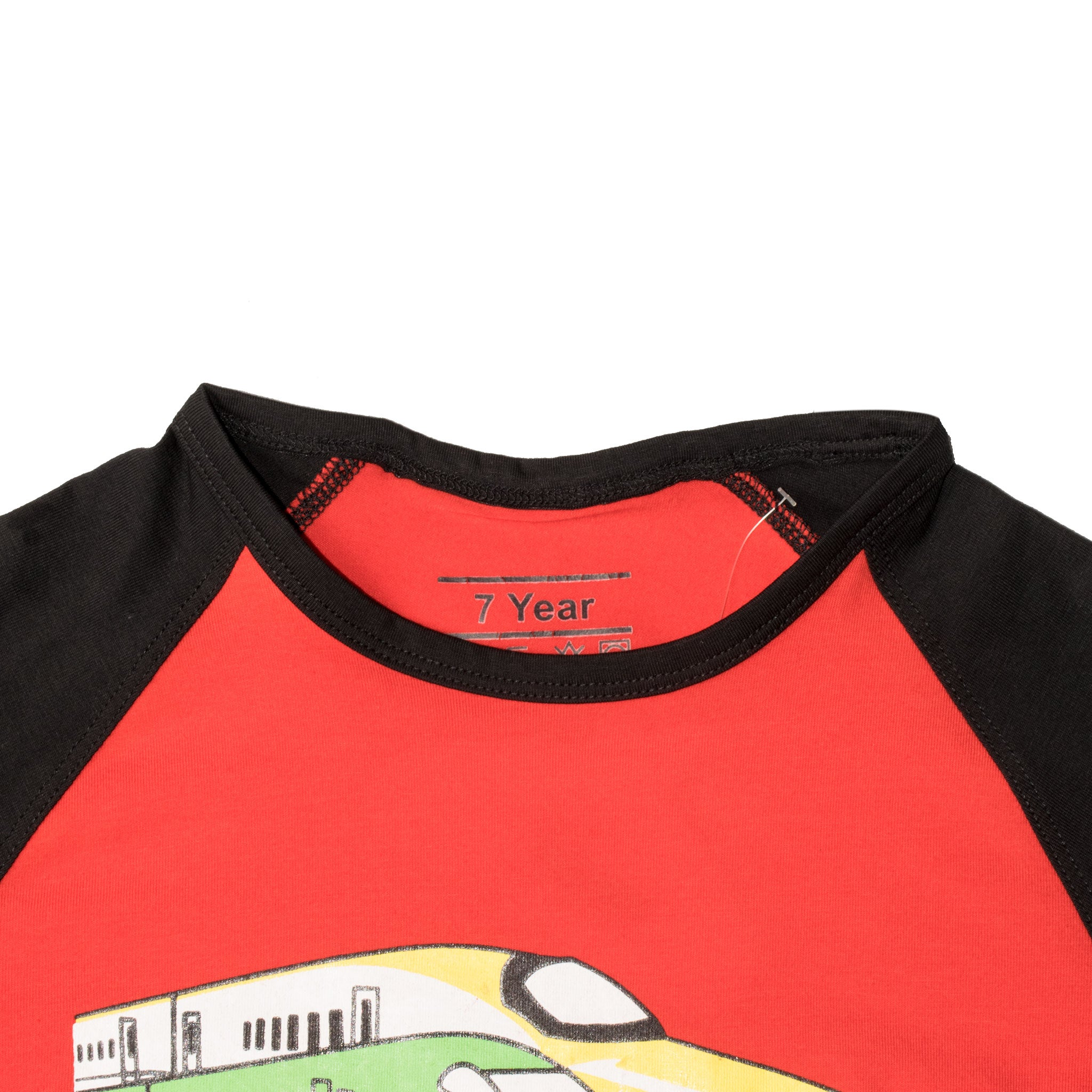 BOYS S/S RAGLAN-RED/BLACK-SSSS20KB-1110