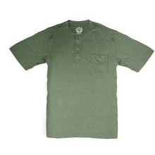 Load image into Gallery viewer, MEN'S S/S HENLEY - GREEN - Export Mall Online Store Sale
