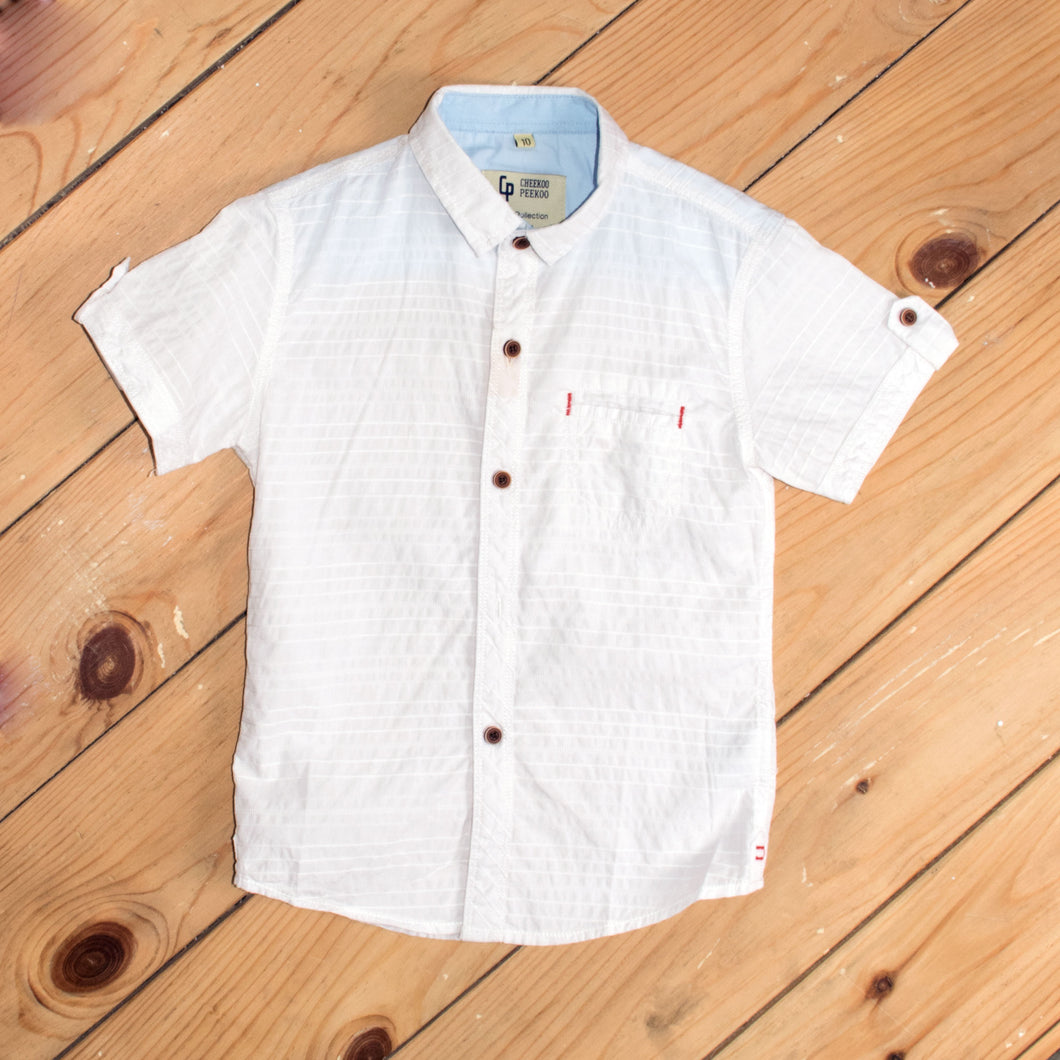 BOY'S S/S SHIRT-WHITE-SSSS20WB-3303 - Export Mall Online Store Sale