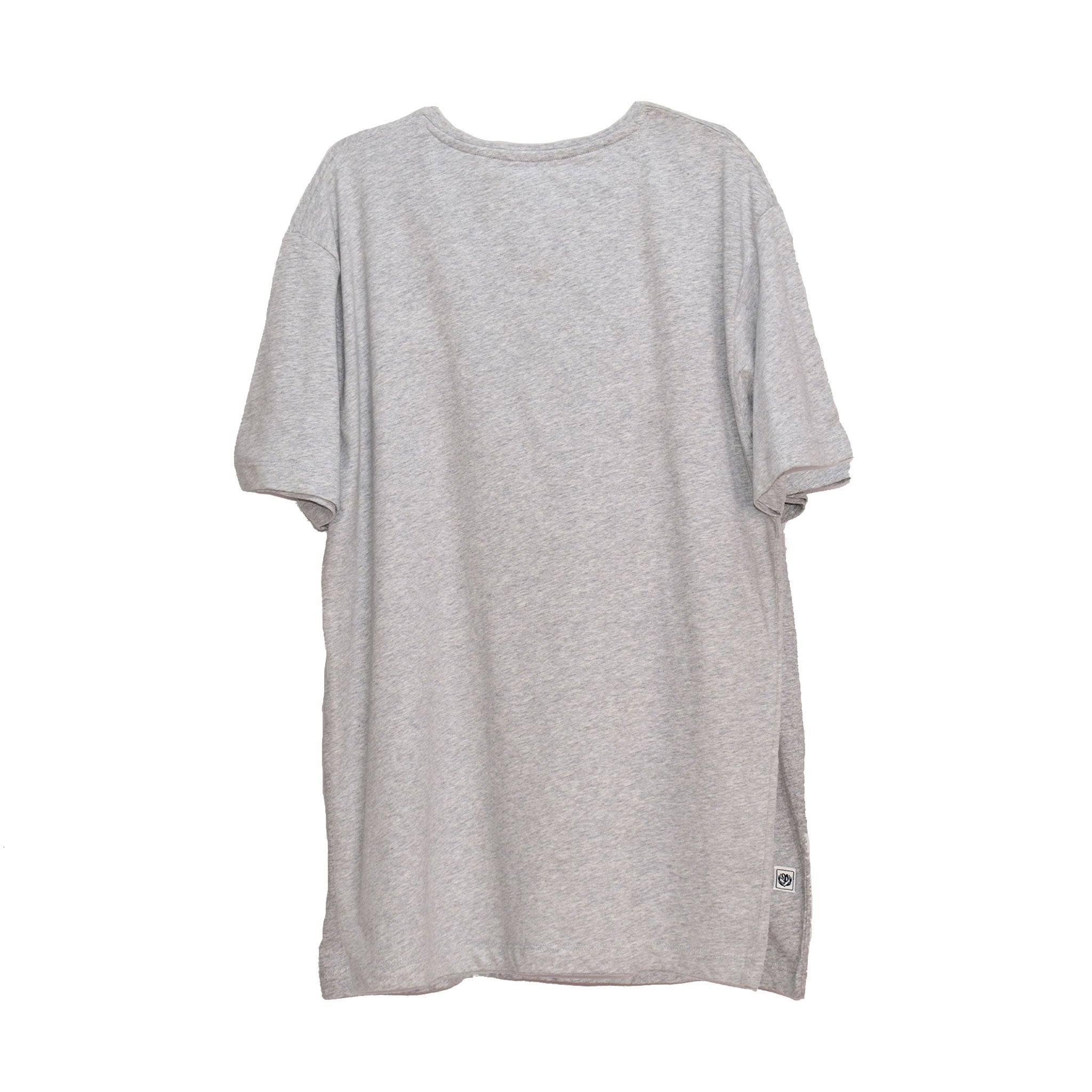 MEN'S S/S PRINTED TEE - GREY HEATHER / INTER
