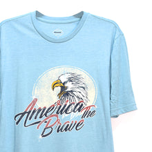 Load image into Gallery viewer, MEN'S S/S PRINTED TEE - AQUA / AMERICA THE BRAVE - Export Mall Online Store Sale