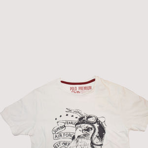 MEN'S S/S PRINTED TEE - WHITE / LEGENDARY - Export Mall Online Store Sale