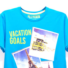 Load image into Gallery viewer, MEN'S S/S PRINTED TEE- SKY BLUE / VACATION GOALS - Export Mall Online Store Sale
