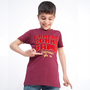 BOY'S S/S GRAPHIC TEE-MADERIA WINE-EMSS21KB-1140 - Export Mall Online Store Sale
